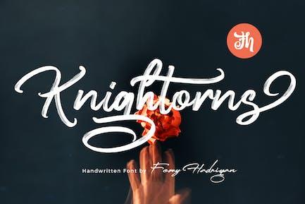 Knightorns - Handwritten Font