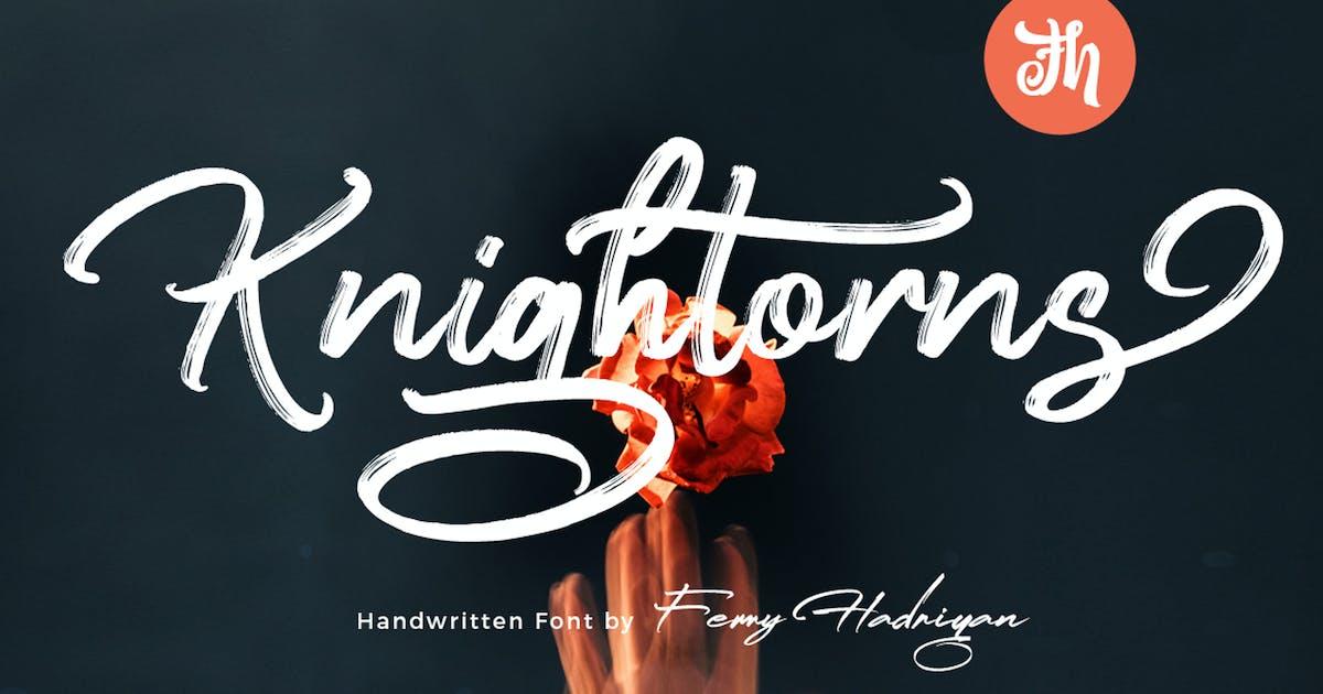 Download Knightorns - Handwritten Font by Voltury