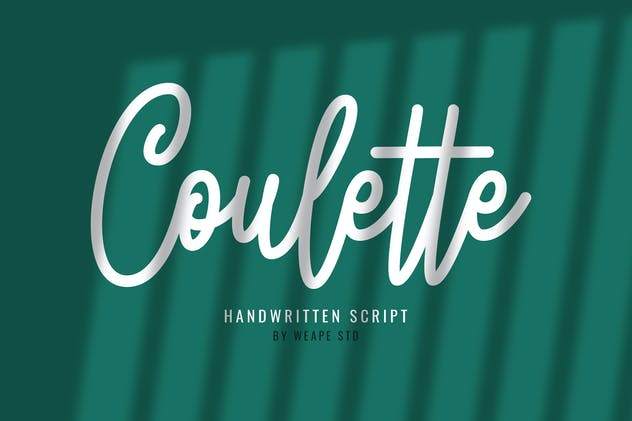 Coulette Handwritten Script - product preview 7