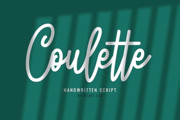 Thumbnail for Guión escrito a mano de Coulette