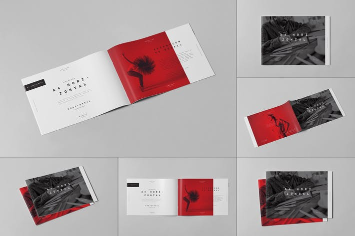 Thumbnail for A4 Horizontal Brochure Mock-up 3