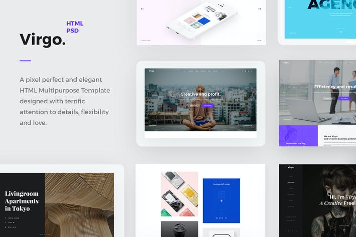 Thumbnail for Virgo  - Creative HTML Multipurpose Template
