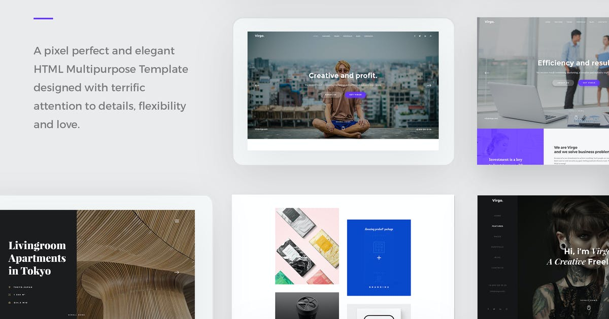 Download Virgo  - Creative HTML Multipurpose Template by paul_tf