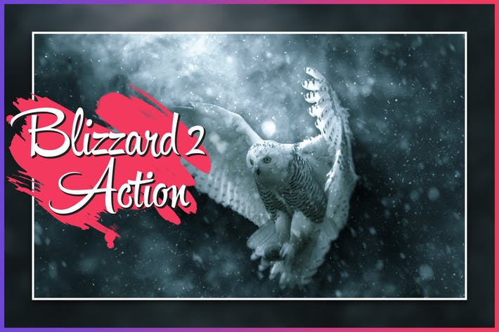 Thumbnail for Blizzard 2 CS4+ Photoshop Action