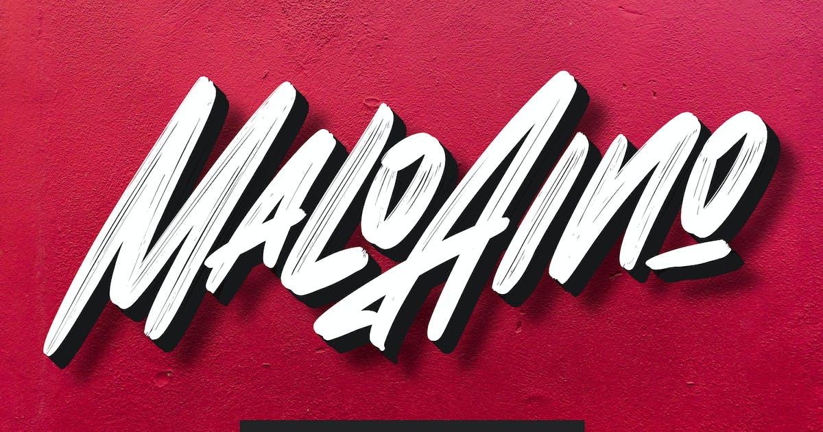 Download Malo Aino Graffiti Brush Font by maulanacreative