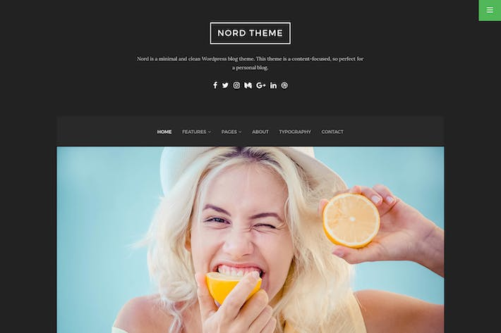 Thumbnail for Nord - Minimal and Clean WordPress Blog Theme