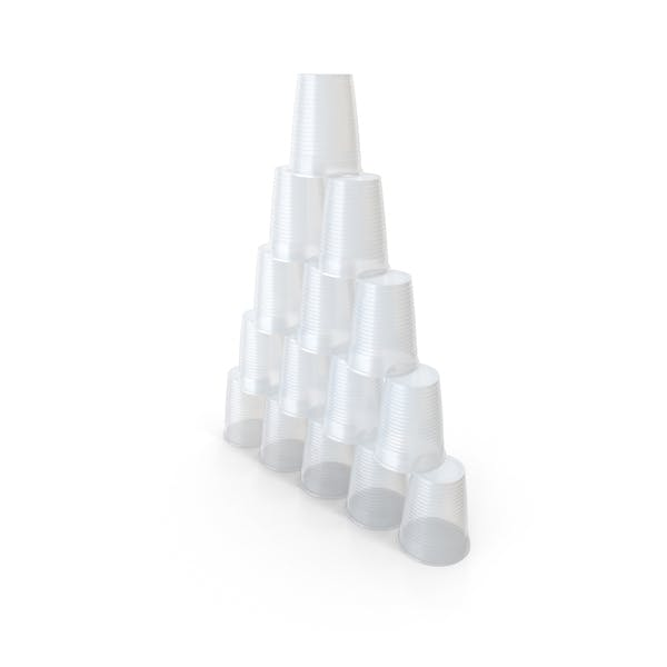 Plastic Cups Pyramid
