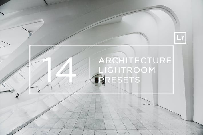 Cover Image For 14 Pro Architecture Lightroom Presets