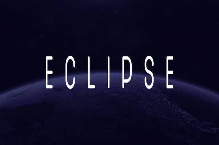 Thumbnail for SB ECLIPSE - Unique Display / Logo Typeface
