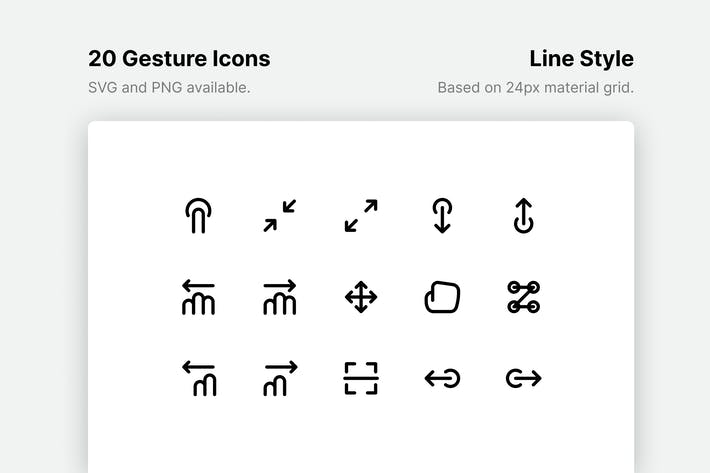 Thumbnail for Gesture Line Icons