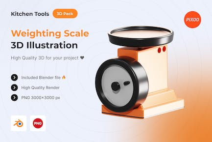 Weighting Scale 3D Kitchen Object