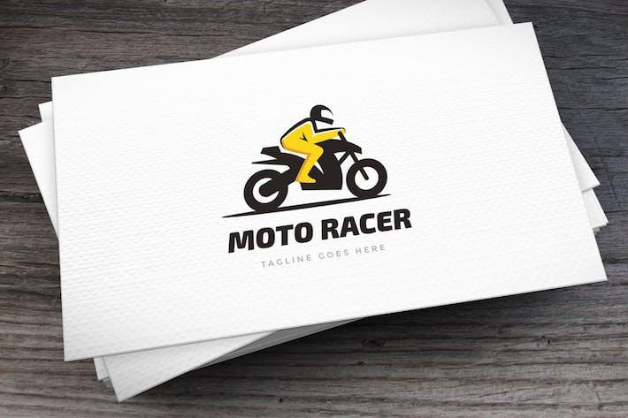 Moto Racer Logo Template