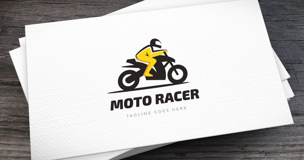 Download Moto Racer Logo Template by empativo