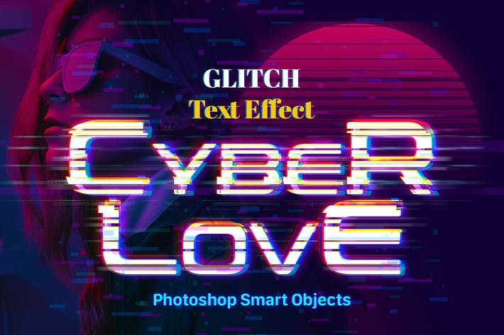 Thumbnail for Glitch Photoshop Text Effect