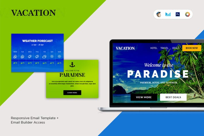 Cover Image For Vacation E-Newsletter Template