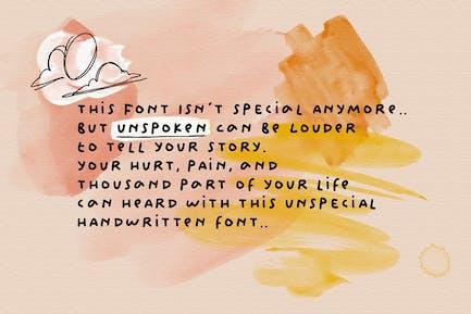 Unspoken - Story Handwritten