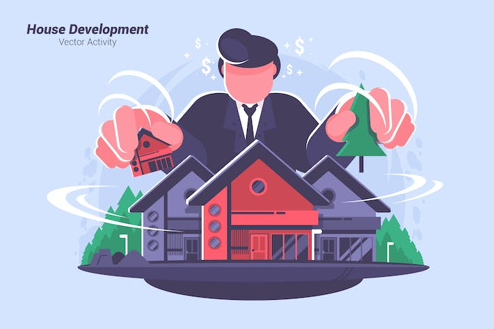 Thumbnail for House Development - Vector Illustration