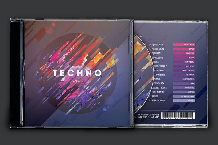 Thumbnail for Techno CD Cover Artwork