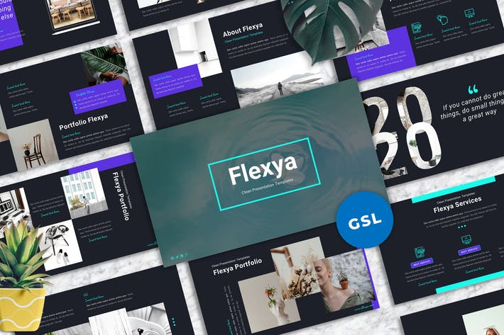 Thumbnail for Flexya - Googleslide-Vorlagen reinigen