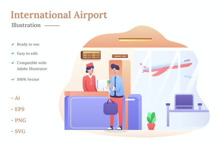 International Airport Illustration