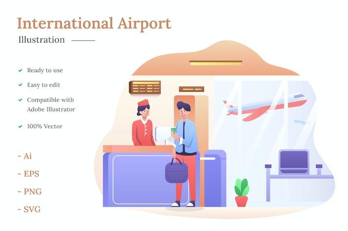 Thumbnail for International Airport Illustration