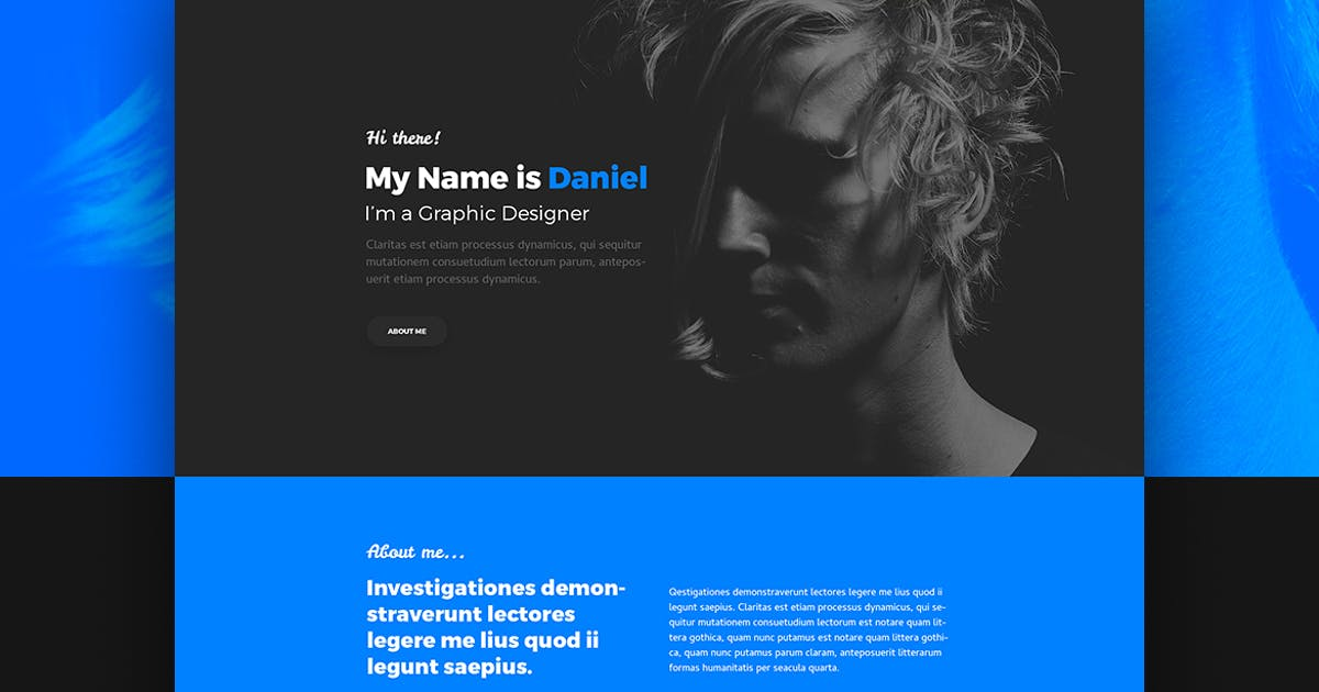 Download Albedo – Personal Onepager PSD Template by themefire