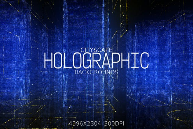 City Holographic Backgrounds