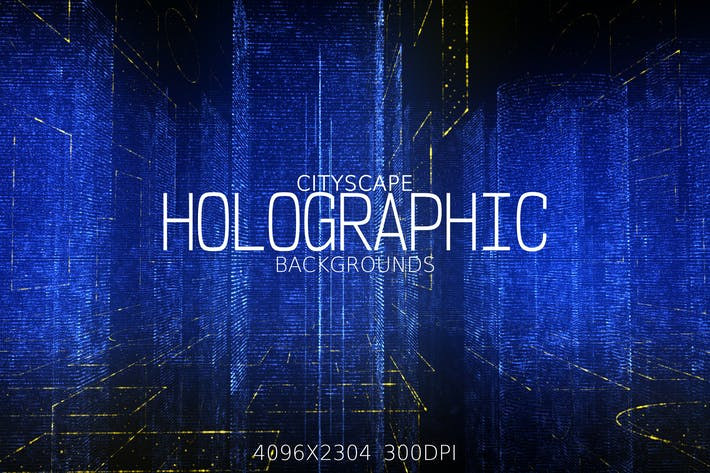 Thumbnail for City Holographic Backgrounds