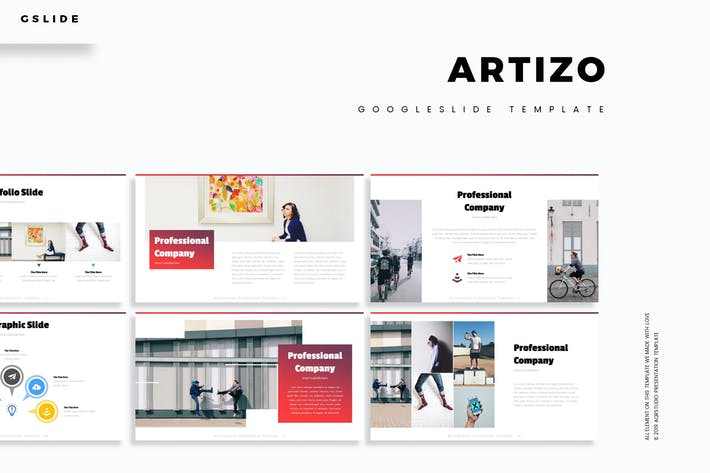 Cover Image For Artizo - Google Slide Template