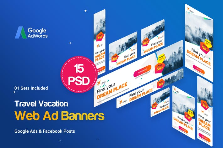 Thumbnail for Travel Vacation Banners Ad