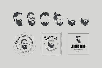 Набор векторные значки парикмахерской