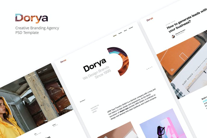 Thumbnail for Dorya | Creative Agency PSD Template