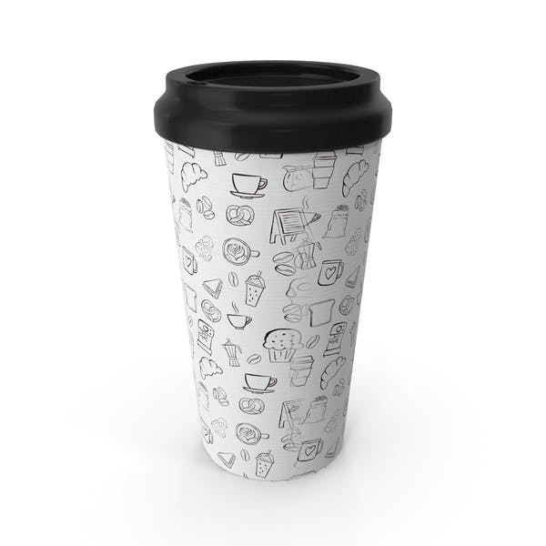 Paper Cup Brown White Patterned