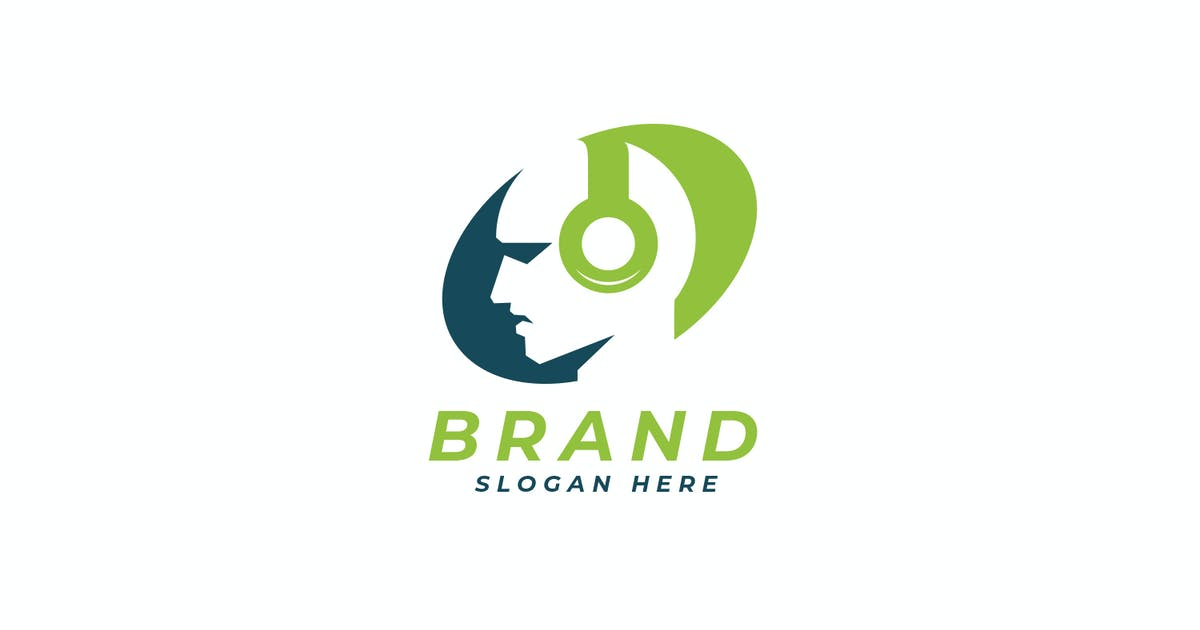 Download Music Man - Modern Music Media Logo Design by unrealstock