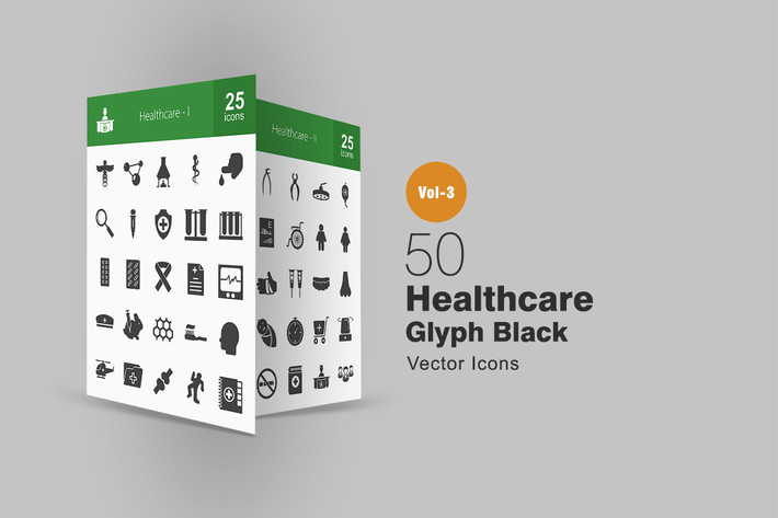 Thumbnail for 50 Healthcare Glyph Icons