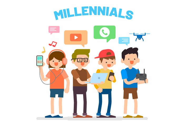 Thumbnail for Millennials or Generation Y Illustration