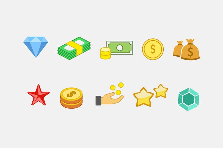 Thumbnail for 10 In-Game Currency Icons