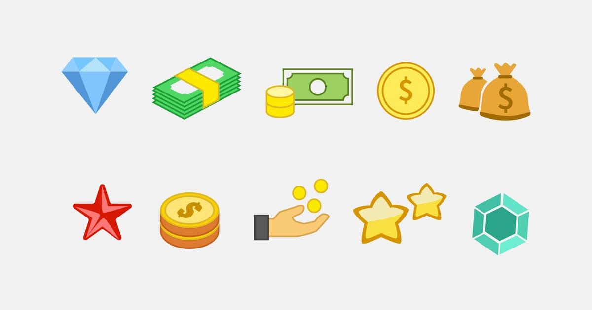 10 In-Game Currency Icons by creativevip