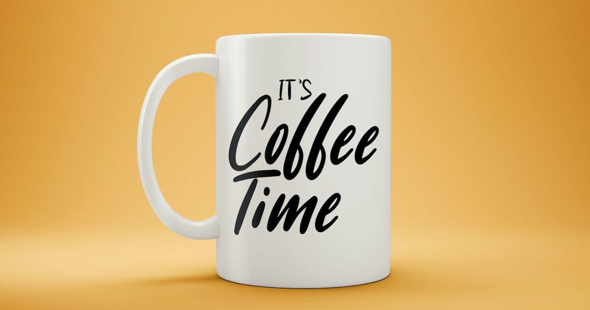 Download White Coffee Mug Mock-Up by EightonesixStudios