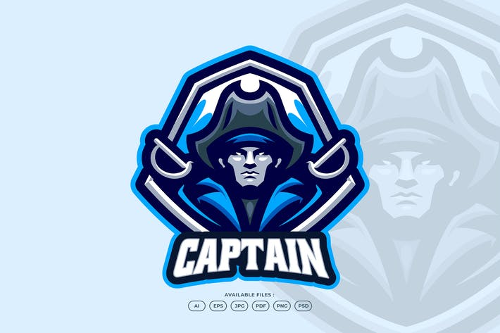 Thumbnail for Captain Pirate Emblem With Sword