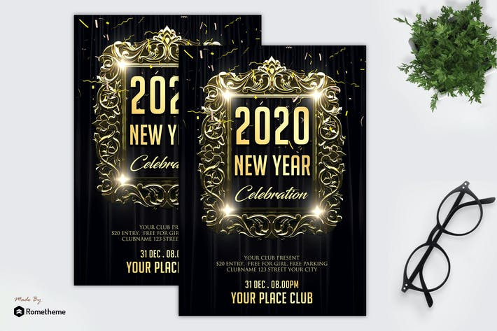 Thumbnail for New Year Celebration Party - Flyer MR