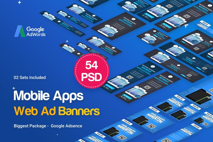 Thumbnail for Mobile Applications Banners Ad - 54 PSD [02 Sets]