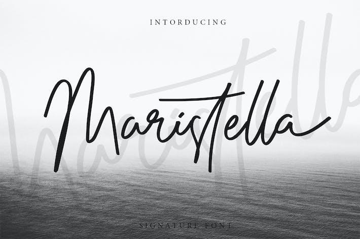 Thumbnail for Maristella Signature Font