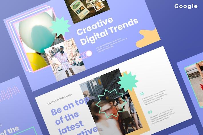 Thumbnail for Творческие цифровые тенденции 2021 - Google Слайды