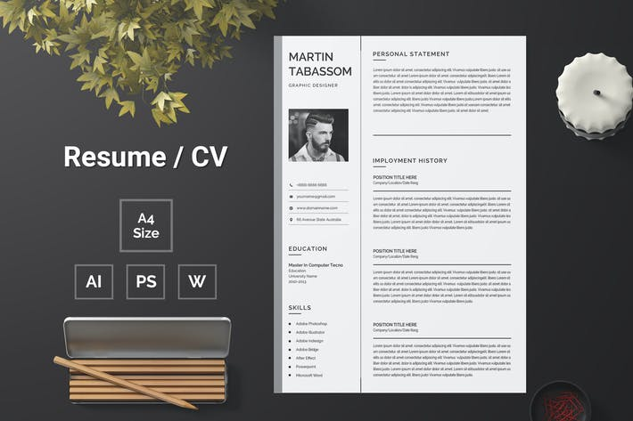 Thumbnail for Resume Template 104