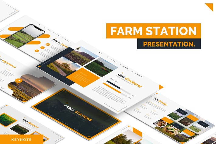 Thumbnail for Farm Stations - Keynote Template