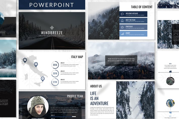 Thumbnail for Winbreeze - Business Powerpoint Template