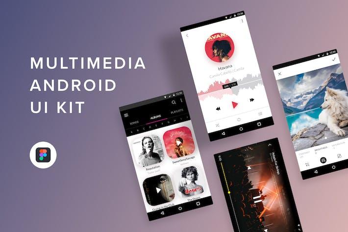 Thumbnail for Multimedia Android UI Kit (Figma)