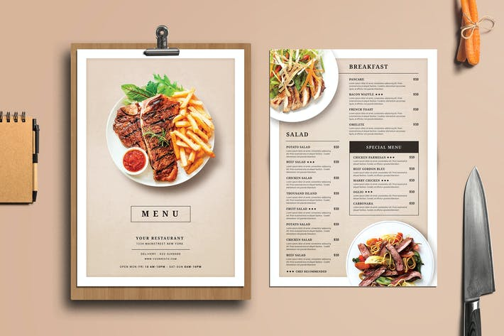 Thumbnail for Modern Restaurant Food Menu