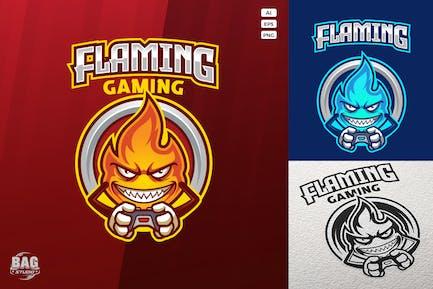 Gamer Flame Esport Logovorlage